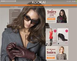 Page d'accueil de Kookaï