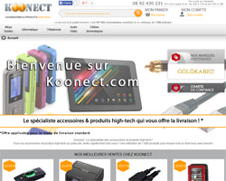 Page d'accueil de Koonect