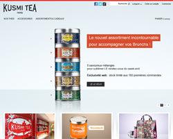 Page d'accueil de Kusmi tea