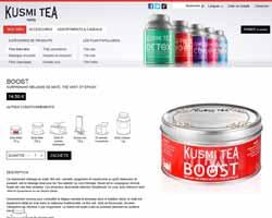 Une fiche produit de Kusmi tea