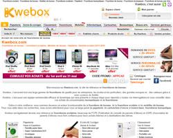 Page d'accueil de Kwebox