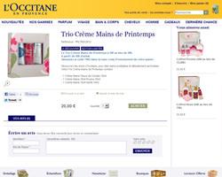 Une fiche produit de L'Occitane
