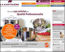 Page d'accueil de La Cantinière