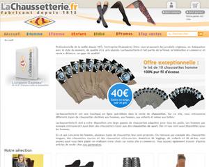 Page d'accueil de La Chaussetterie