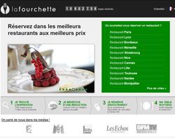 Page d'accueil de La Fourchette