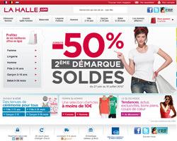 Page d'accueil de La Halle