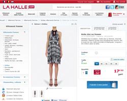 Une fiche produit de La Halle