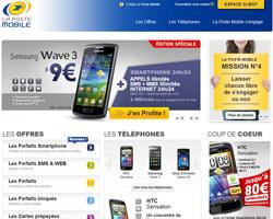 Page d'accueil de La Poste Mobile