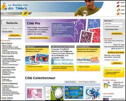 Page d'accueil de La Poste Timbre