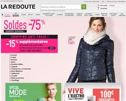 Page d'accueil de La Redoute