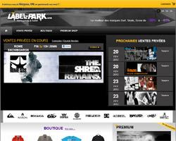 Page d'accueil de Label-Park