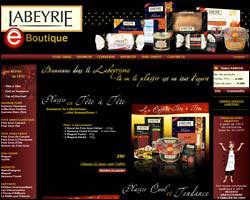 Page d'accueil de Labeyrie