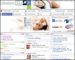 Page d'accueil de Laboratoires Edel