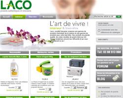 Page d'accueil de Laco Shop