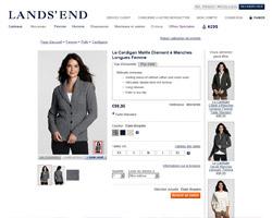 Une fiche produit de Lands'End