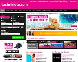 Page d'accueil de Lastminute
