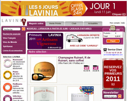 Page d'accueil de Lavinia