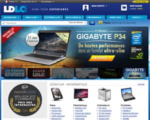 Page d'accueil de LDLC