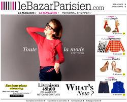 Page d'accueil de Le Bazar Parisien