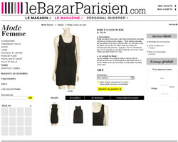 Une fiche produit de Le Bazar Parisien