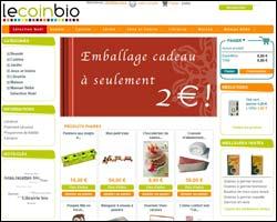 Page d'accueil de Le Coin Bio