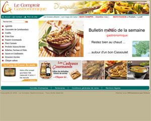Page d'accueil de Le Comptoir Gastronomique