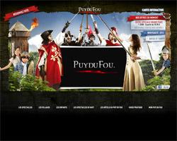 Page d'accueil de Le Puy du Fou