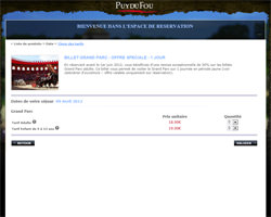 Une fiche produit de Le Puy du Fou