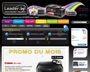 Page d'accueil de Leader-ink