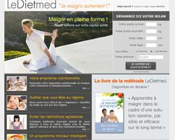 Page d'accueil de LeDiet