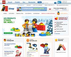 Page d'accueil de Lego