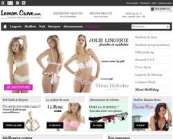 Page d'accueil de Lemon Curve