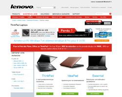 Une fiche produit de Lenovo