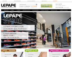 Page d'accueil de Lepape