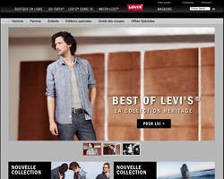 Page d'accueil de Levi's
