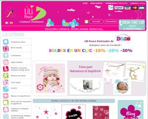 Page d'accueil de Lili Pouce