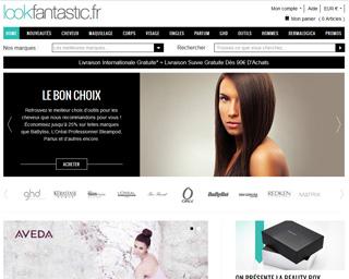 Page d'accueil de Look Fantastic