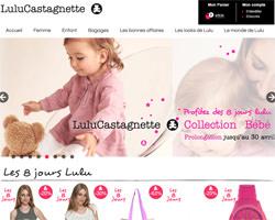 Page d'accueil de Lulu Castagnette