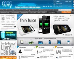Page d'accueil de MacWay