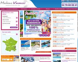 Page d'accueil de Madame Vacances