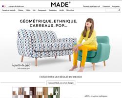 Page d'accueil de Made