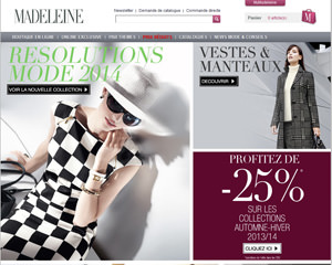 Page d'accueil de Madeleine