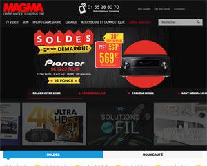 Page d'accueil de Magma