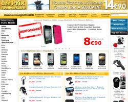 Page d'accueil de Maison du GSM