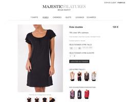 Une fiche produit de Majestic Paris