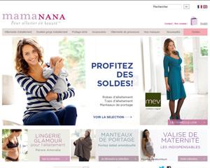 Page d'accueil de MamaNana