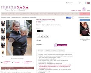 Une fiche produit de MamaNana