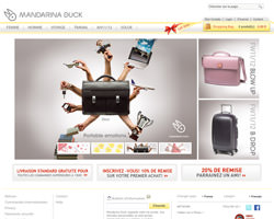 Page d'accueil de Mandarina Duck