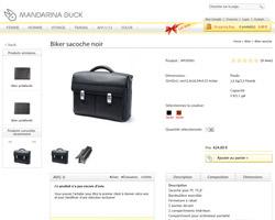 Une fiche produit de Mandarina Duck