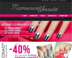Page d'accueil de Manucure & Beauté